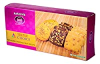 Karachi Bakery Triple Delight, Triple Choice, Pista Almond, Choconuts and Fruit Biscuits, 600g