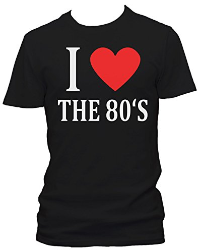 I love the 80's FUN Herren T-Shirt, Größe:XXL;Farbe:schwarz