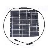 Nuzamas 30 W 12 V pannello solare caricatore Sunpower cellulare ultra sottile flessibile con MC4 connettore di ricarica per camper barche Cabin tenda auto