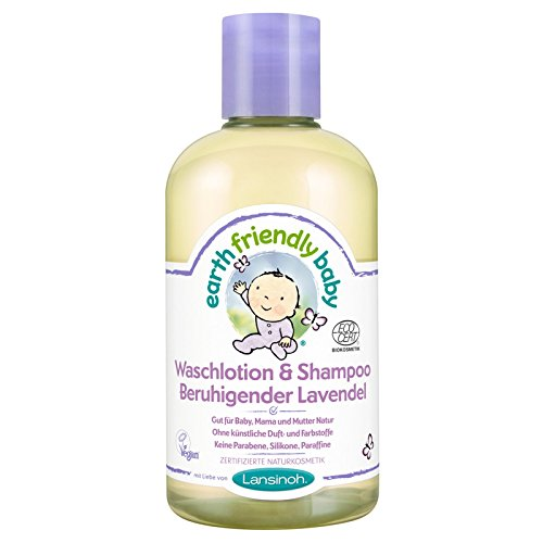 Earth Friendly Baby 82205 Waschlotion und Shampoo Beruhigender Lavendel, 250 ml