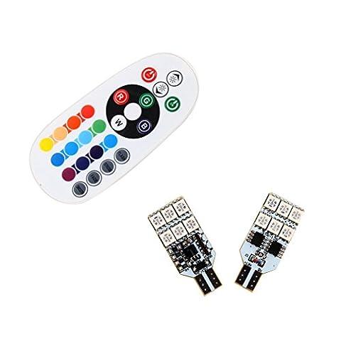 S & D 2x T15Ampoules LED pour porte lampe de lecture LED–Contrôle facile avec DB coloré RVB