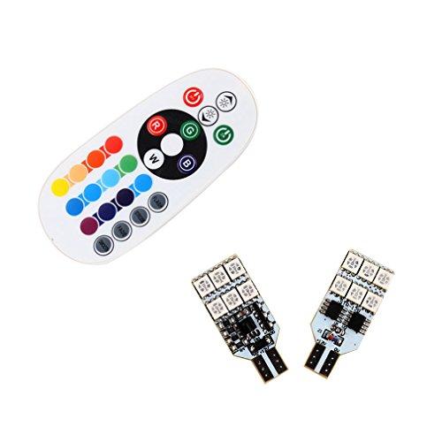 Dual-mount-deckenleuchten (S & D 2x T15LED Leuchtmittel für Leselicht Tür Lichtern–einfach mit Fernbedienung Colorful RGB)