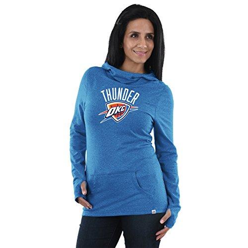 VF Oklahoma City Thunder NBA Damen Wir Play to Win Wasserfallkragen Hooded Long Sleeve Shirt, Damen, Sport Blue, XX-Large