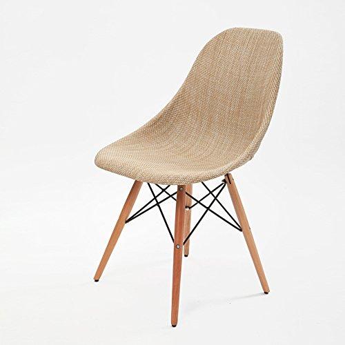Hochstuhl Kreativstuhl/Einfache Moderne Massivholz Stuhl/Esszimmerstuhl / Rattan Stuhl (81 cm)