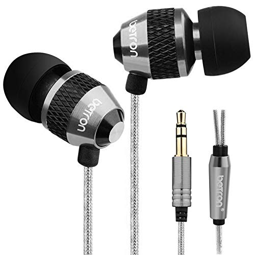 Betron B25 Noise Isolating in Ear Canal Headphones Earphones with Pure Sound and Powerful Bass for iPhone, iPad, iPod, Samsung Smartphones and Tablets (Without Microphone and Remote)