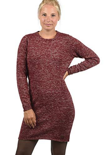 BlendShe Danielle Damen Strickkleid Feinstrick Kleid Mit Rundhals Aus 100% Baumwolle, Größe:M, Farbe:Andorra Red (73811) (Kleid Red Pullover)