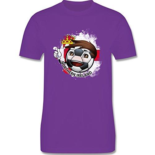 EM 2016 - Frankreich - Fußballjunge Nordirland - Herren Premium T-Shirt Lila