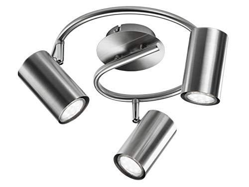 Moderna lampada da soffitto a led/lampada da parete rotonda per interni in nichel opaco – faretto flessibile girevole e orientabile