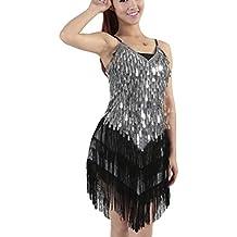 Mujer Salsa Tango Flamenco Baile Latino Elegante Vestidos de Baile bf319369357