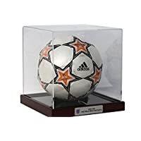 Dream Keepers Football Display Case with Classic Mahogany Base