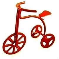Triciclo en miniatura para habitación de niños de casa de muñecas Toy Shop en rojo 6020