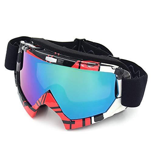 Festnight Gafas de Motocross al Aire Libre a Prueba de Polvo a Prueba de Viento Motociclismo Gafas de protección UV Gafas para Hombres Mujeres