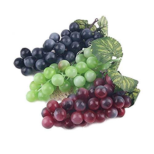 Romote 3 Stück künstliche Frucht Dekorative künstliche Kunststoff Obst Startseite Partydekoration Gefälschte Früchte