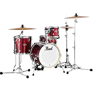 Pearl Midtown Compact Drum Kit Black Cherry Glitter 4 drums with tom holder