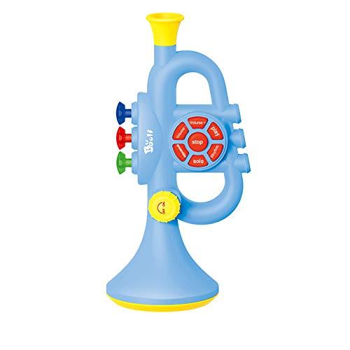 AMITAS Trompete Kinder Trompete Spielzeug Musikinstrumente Kinder für Jungen und Mädchen Babys- Blau