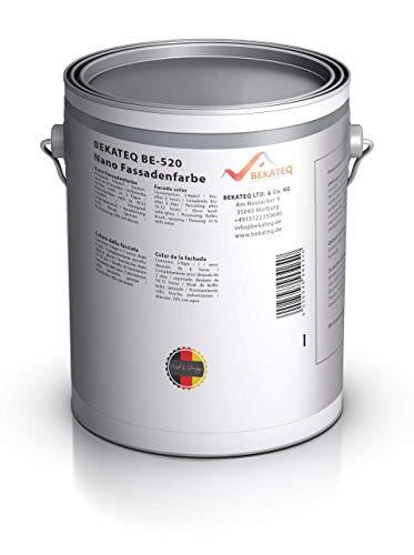 BEKATEQ BE-520 Nano Fassadenfarbe, 1l Weiß, Wandfarbe in seidenmatt mit Abperleffekt