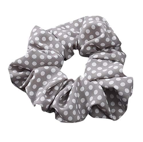 HAUXIN Erwachsene Haargummis Mädchen Haar Scrunchies Baumwolle Elastische Haarbänder Pferdeschwanz Haarband mit Tasche Bunten Haar Kreis Einfache Nette Schachtelhalm Gummiband Verschiedene farben -
