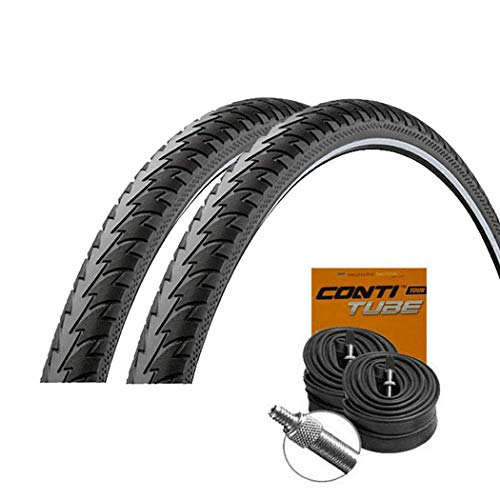 Touring Plus Reflex Pannenschutz Reifen 47-622 / 28x1.75 + Conti Schläuche Dunlopventil ()