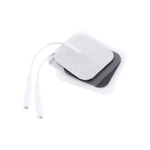 Dewin Elektrodenpads - Neue 4x4cm Ersatz Selbstklebende Digitale Therapie Massage Elektrodenpads, 10Stk