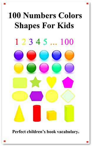 100 Numbers Colors Shapes For Kids: Picture 100 Numbers ...