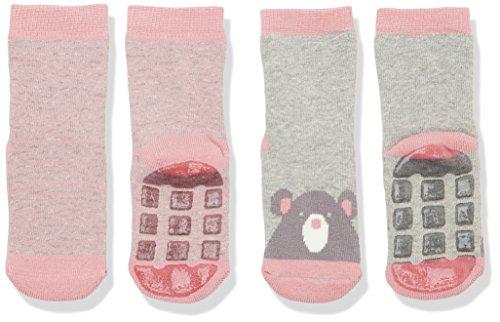 Magic Kids Baby - Mädchen Socken Hall 550143, 2er Pack, Gr. 23-26 (Herstellergröße: 23/26), Mehrfarbig (Rose 506) Hall Rose