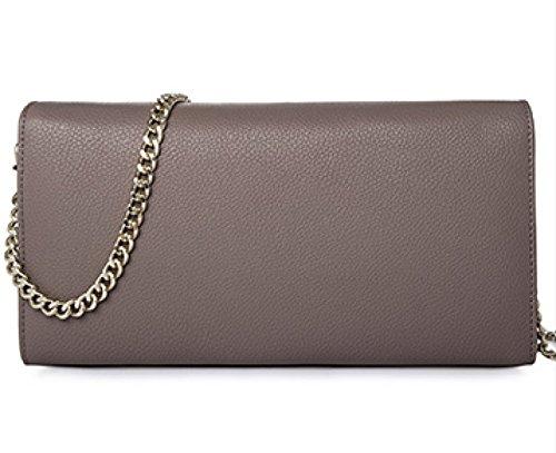 Frauen-echtes Leder-Beutel Kleine / Mikro-Kreuz-Körper-Schulter-Beutel-Handtaschen-Kupplungskette (7 Farben) Khaki