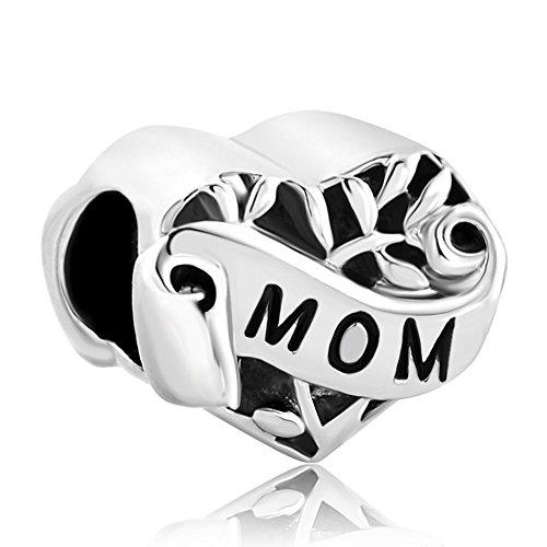 Uniqueen regali di festa della mamma mum beads charm per braccialetti e base metal, cod. dpc_my777