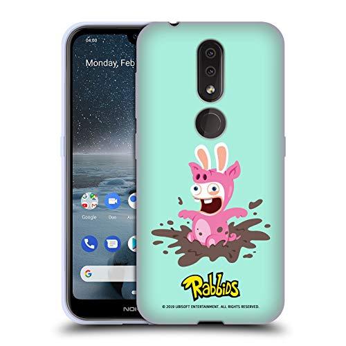 Head Case Designs Offizielle Rabbids Schwein Kostueme Soft Gel Huelle kompatibel mit Nokia 4.2