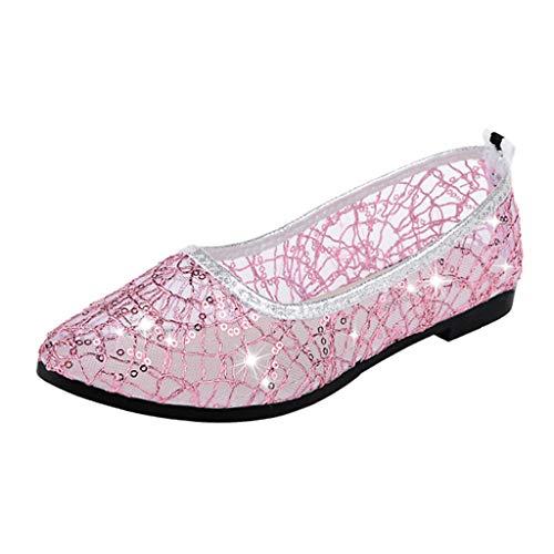 Verstellbare Schnalle, Mary Jane (Btruely Damen Schuhe Flache Sommer Sandalen Casual Ballerina Schuhe Mary Janes Arbeitsschuhe Erbsenschuhe)