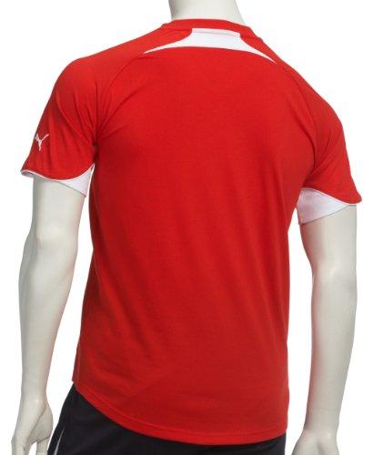 PUMA Herren Teamsport T-Shirt PWR-C TT 1.10 Tee puma red-white