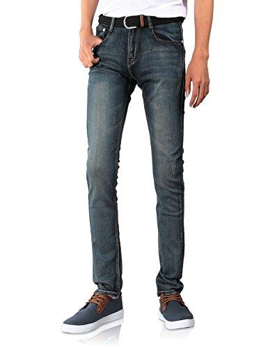 Demon and Hunter 808 Serie Herren Dünn Schlank Jeanshose Jeans DH8028(28) (Herren-schuhe Serie)