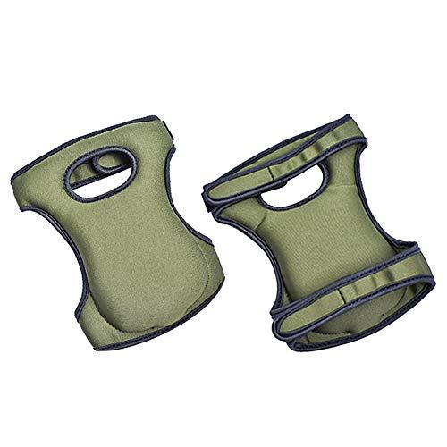 fuchsiaan 1 Paar Outdoor Indoor Working Knieschützer Atmungsaktive Knieorthese Kompressionshülsen Schutz für Outdoor-Sportarten Reinigung Gartenarbeit Drak Green