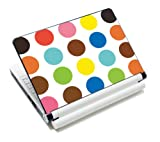 Luxburg® Design Aufkleber Schutzfolie Skin Sticker für Notebook Laptop 10 / 12 / 13 / 14 / 15 Zoll, Motiv: Bunte Kreise