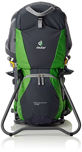 Deuter Kid Comfort Air Zaino, Grigio/Verde