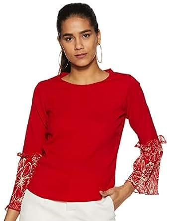 Krave Women Plain Regular fit Top AW18KRAVE_DESIRE01 Red rd S