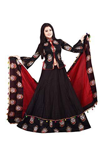 d5454b406d6 35% Leriya Fashion Cotton Printed Lehenga Choli for Women (Semi-stitched  Lehenga and Unstitched Choli