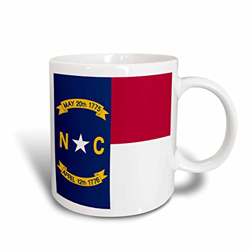 3dRose Flagge von North Carolina NC US American United State of America USA rot weiß blau Dichtung 11oz Tasse, Keramik, 10,2x 7,62x 9,52cm