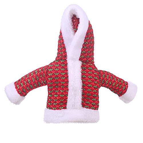 Mitlfuny Christmas,Weihnachtsdekoration,Christmas Decorations,Christmas Vacation,Weihnachtsschmuck Pullover Flaschen Sets Old Man Kleidung Flasche Dress Up (Baby Bierflasche Kostüm)