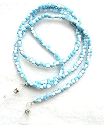 NEW Pretty Blue & White Beaded Glasses Sunglasses Chain Strap