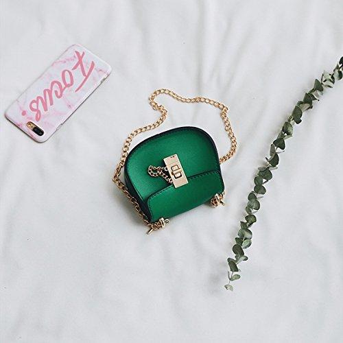 Weibliche Mini-Beutel art und weiseketten-schulterbeutel einfaches verschluss diagonales Kreuz pu-kleiner quadratischer Beutel Grün