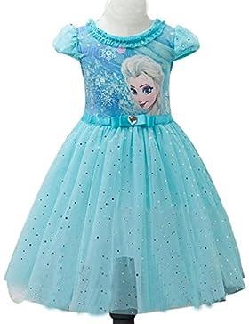 Eyekepper bambini delle ragazze dei bambini del fumetto Elsa principessa Cosplay Mesh Vestito a palloncino