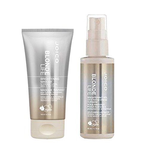 Aufhellung Duo (Joico Blonde Life Aufhellung Illuminating Hydration Mask 150 ml & Aufhellung Schleier UV-& Thermo Defense multi-tasker 150 ml Great Value Duo-Set)