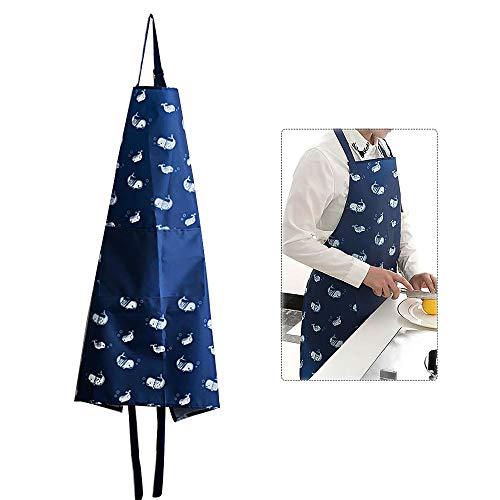 whatUneed Delantales para mujer, para cocina, abrigos impermeables, sin mangas, uniformes de...