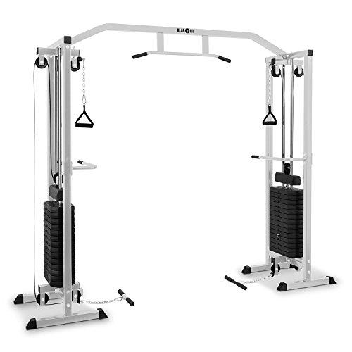Klarfit Cablefit Cablefit Kabelzugbrücke Kabelzugstation (zweiseitiger Kabelzug, Zwei Türme mit je 170 lb [77 kg] Maximalgewicht) Silber