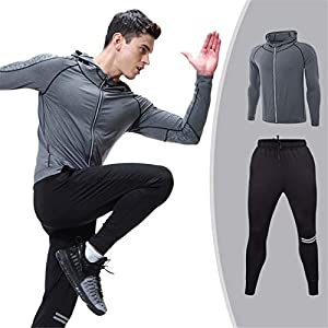 Z-Pertbil Winter Running Set Herren Cool Quick Dry Herren Sportanzug Fitness Enge Gymnastikbekleidung