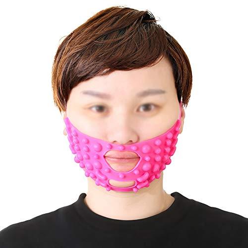 Face-Lifting Mask Lifting Straffende Gesichtssilikonmassage zur Verbesserung des Regelmusters Kleine Doppelkinn-Gesichtsmaske