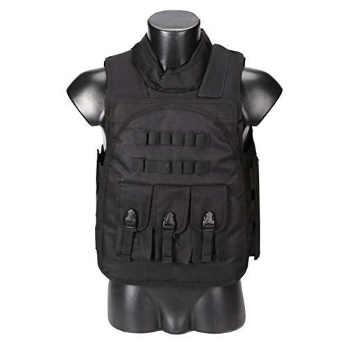 Qaq giubbotto tattico qp gilet multifunzione in nylon campo da combattimento formazione di sopravvivenza alpinismo tiro autodifesa equipaggiamento protettivo nero fango color camouflage,black