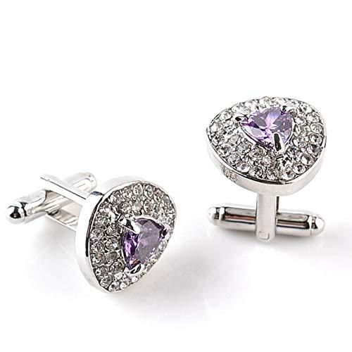 guantongda modische Manschettenknöpfe für Herren, Vintage-Stil, für Hemd, Knoten, gedreht, für Damen und Mädchen - B1121-purple -