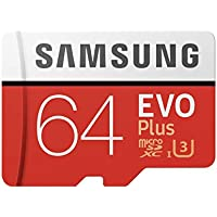 Samsung Mobile UK 64 GB 100 MB/s Class 10 U3 Memory Evo Plus MicroSD card with Adapter