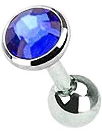 Taffstyle® Tragus Piercing mit eingefassten Kristall